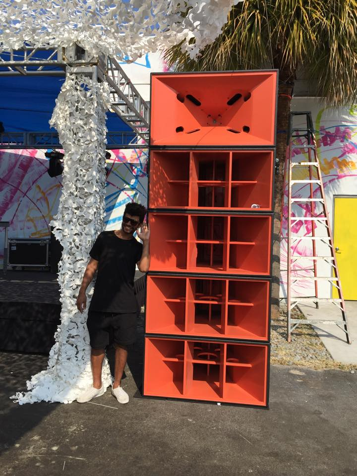 Jamie Jones next to SH96HO and DBH218 at MANA Wynwood